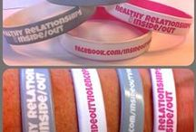Custom Dual Layer Bracelets / Dual layer type bracelets can be designed with your favorite two different colors. One will be added outside and the other in the inside of your wristband. The color of the message will be of the color present inside the band. / by Amazing Wristbands