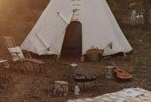 - ▲ キャンプ ▲ - / Camping, Outdoor, Nature / by Jersey Yen