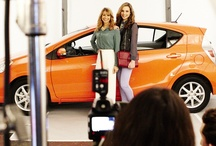 "Arrive in Style  / The Teen Vogue It Girls were having fun on set ""Air Driving"" with their moms to promote our Arrive in Style project. Take a peak behind the scenes, and share your Air Driving pic for a chance to appear in an upcoming issue of Teen Vogue. For official rules visit www.teenvogue.com/arriveinstyle / by Toyota USA"