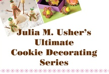 My Cookie Decorating Tutorials / Here you'll find my instructional posts for fashioning inventive decorated cookies. Most of the posts draw on one or more of the 15 cookie decorating techniques in my new book Ultimate Cookies. Enjoy! / by Julia M Usher c/o Recipes for a Sweet Life