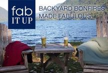 Fab It Up: Backyard Bonfire / Fun year-round, the backyard bonfire is especially delightful in the fall. Here's a few suggestions to make your next backyard bonfire the toast of the neighborhood. / by Marshalls
