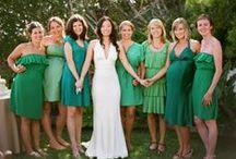 Suzie's wedding / Green bridesmaid dresses! / by vampireweasel