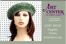 """Strawberry Couture Basic Crochet Beret Class / If you live in the Corpus Christi, TX area, learn how to crochet the basic beret hat. I created a pattern where making it is super easy. Does your hand ever hurt when you crochet? Let me show you a technique to end that problem. I call it creating the """"bionic hook"""" out of 2 super inexpensive materials. The class costs $50.00 per student. I will provide the yarn, tapestry needle, scissors, and you bring your size K 101/2(6.50mm) crochet hook. Click for more info. / by Strawberry Couture Etsy Unique Crochet and Knit Hats Scarves Patterns"""