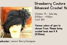 Strawberry Couture Advanced Hat Crochet Class / Learn how to crochet the advanced level of the LAUREN crochet cloche hat  - https://www.facebook.com/events/712172338852219/ #artcentercc #crochet #advanced  / by Strawberry Couture Etsy Unique Crochet and Knit Hats Scarves Patterns