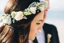 weddings | crowns + tiaras / pretty floral and elegant wedding crowns / by Ever So Lovely® Inc.