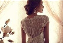 french lace and sparkly wedding dresses / by Ever So Lovely® Inc.