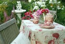 You're Invited to My Tea Party... / Everything you need for a Tea Party - tea pots, tea cups, table settings, food to serve / by Dawn Emling