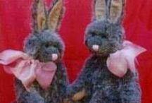 Soft  Dolls & Plush Animals  / Stuffed Cow, Horse, Duck, Swan, Pig, Chicken, Elephant, Hippo, Giraffe, Lion, Tiger, Rhino, Monkey, Foxes, moose, squirrel, hedgehogs, owls, mice, fawn, deer, raccoon, song birds, eagle,  / by Merry Guertin