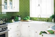 Garden Green Kitchens / It doesn't get any fresher—or fragrant—than greens from a kitchen garden, especially when they're as close as your fingertips. Take a look at our favorite kitchens that bring the outdoors in. / by Kohler Co.