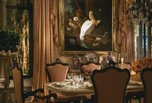 ∙*✦*∙ Fine Dining ∙*✦*∙ / Beautiful, opulent dining rooms. Better know your etiquette if you're going to be dining in one of these rooms!  Please remember to follow Pinterest etiquette and don't power pin. Unless you are following me, please limit your pins to 25 pins for all my boards combined. Thank you. / by ♛ Linda Hall
