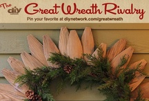 Great Wreath Rivalry / Pin your favorite DIY wreaths for your chance to win one of five $100 gift cards! Enter now at diynetwork.com/greatwreath / by DIY Network