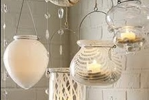 Light | Candlelight / We love candlelight...shimmering from beautifully appointed hurricanes, beckoning from rustic or nautical lanterns, perched on stately pillars, in collections or as a single simple statement.   / by Cottage & Bungalow