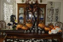 Terrifying Tabletops / Spooky Tabletop and Mantle Decor – Your photos from our Spooky Décor Challenges. Enter this year's challenge for a chance to win a $5,000 gift card to Grandin Road. www.grandinroad.com/spookydecor / by Grandin Road