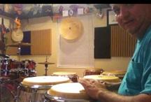 Percussion / Drums / I love my drum room, Afro Cuban Rhythms, Gospel. Amen! / by Tony Medina