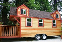 Tiny Houses on Wheels / The kids will soon be grown, we will both retire in a few years, and I finally want us to be able to head out to explore parts unknown. I picture a beautiful Tiny Home on wheels that is designed to fit Pete's and my needs and peculiarities to a tee. Something that could be alternately a beach house or mountain retreat. When we aren't using it elsewhere, it can sit in our backyard and be used for a guest (kid) house or retreat, maybe even studio space. -CAB / by Cindy Briedis
