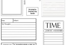Printables for Scrapbooking and Cardmaking / PRINTABLES: These are things that you can print on your computer to use for scrapbooking and or cardmaking. / by Heather Gibbs