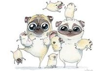 All about the Pugs... / Furry 4-legged family / by Tina Smith-Anderson