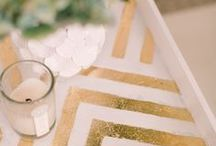 DIY What's Trendy | GOLD / Tons of DIY projects to ordinary objects to GOLD!!   We can all have a Midas touch!! :) / by Angela- Unexpected Elegance