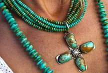 Jewelry - ♥ Turquoise / Born in Wyoming where beautiful turquoise was mixed with the gravel on the side of the road. Turquoise Stones bring back memories of my Summers at Grandma's / by Dana Lynn