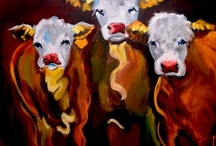 COWS as Art!!! / Painted for FUN!! / by Cynthia Carter