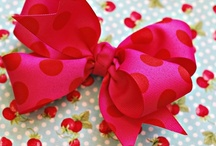 Ribbon hair bows / by Marva Wetherington