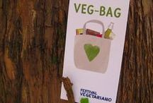 Veg-Bag 2013 / The VEG-BAG is the new sponsor of the Vegetarian Festival. A practical shopping bag in 100 % biological cottons containing selected products of the best bio-certified Italian companies, created by the Vegetarian Festival for your eco-friendly shopping! / by Festival Vegetariano
