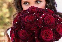 Deep Red, Black Tie Wedding Inspiration / Deep Red, Black Tie Wedding / by Agape Planning