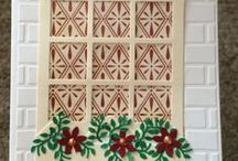 WINDOW and DOOR CARDS - ALL OCCASIONS / Window caress by me and by others / by Brenda Kline