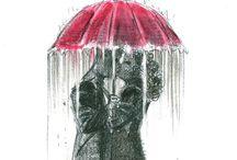 Art - Red umbrella  / by Trudi Unsworth