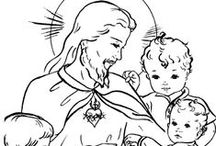 Catholic Coloring Pages for Kids to Colour / by Deirdre