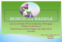 Bunco and Bagels / The Event takes place every 2nd Monday of each month! Don't know how to play but you are interested? New players are always welcome! 217- 498-8454 Give us a call for further information / by Rochester Public Library District