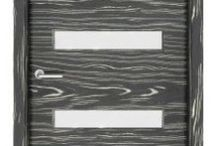 Safari Black Doors / Take a walk on the modern side with these interior doors finished in a specialty black and white hardwood veneer.  / by 27estore.com