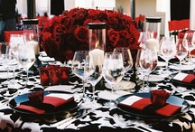 Red & Black Wedding Inspiration  / An extensive collection of inspiration for those looking for a unique and quirky wedding style. Red and black is a striking and some would say gothic colour scheme but that's the great thing: it's your day so do whatever the hell you want! Rock and roll!   Red and black colour theme wedding style (vintage/ gothic/ fantasy/ fairytale) decorations  / by Curious Little Red