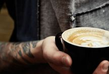 : café life : / coffee, café, koffie, kafe, kava, kaffe, kofi, caife, ka-feh, caffe..... In any language, the drink, the place, the culture.  / by Janeen Farrell