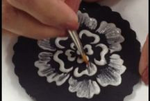 Brush Embroidery / Brush embroidery on cakes.  / by Lozz Staf