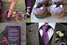 Purple, Plum, Lilac And Grey, White to Black Toned Wedding Theme / A collection of elegant purples, plums, lilacs, greys, silvers to blacks plus everything in between for this unique and sophisticated colour wedding palette.  / by Curious Little Red