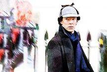 Sherlock BBC / Benedict Cumberbatch as Holmes and Martin Freeman as Watson BBC 2010 / by Captain Kathyrn Janeway