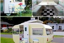 Retro Travel Trailers / How adorable and original to take old trailers that were popular back in the 50s and 60s and renovate them to make them livable, functional and also attractive. / by Barbara Perino