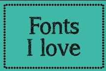 Fonts I love / by Erica Cammer