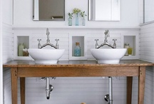 Vintage Bath Ideas / working on a bath addition on our bungalow.. here's my current idea board / by Joy Buck
