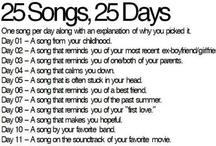 25 songs, 25 days / Music challenge  / by Karla Sittig Winandy