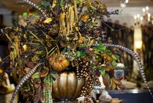 Fall Decor / Pumpkins and feathers and florals oh my.  / by Jerri Smith