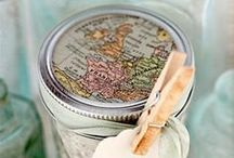 Maps and Travel Event Theme / Map Paper Crafts.  Some things to go with Travel Theme event. / by Julia Bettencourt