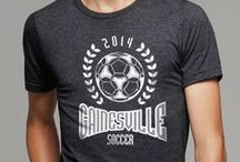 Soccer - Semi Customizable / Light up the pitch and put your team on the map with semi-customizable school soccer t-shirts! / by The Teehive Custom Apparel
