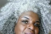 iLove Dope Silver Curls, Kinks, & Locs / Grey, Silver, Platinum Natural Hair & Locs  / by Altonia Fowler-Dugar