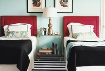 double - two twin beds bedrooms / by Lindsay