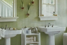 Tiny Bathrooms @Hawk HIll / Decorating tips and storage ideas for the teeny tiny bathrooms in older homes. / by Lindsay