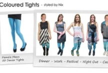 1 pair of tights - 5 looks! / Fashion tights really are versatile - from work wear to cocktails to festivals and shopping there are so many ways to style patterned & coloured tights.  We challenged the MyTights team to style one pair of tights in 5 different ways - every day this week we'll be showing you a different member of teams styles! / by MyTights