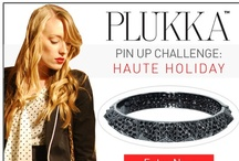 Plukka Pin-Up Challenge: Haute Holiday / Enter our contest to win a $1,490 bangle! http://www.plukka.com/staticpages/contest_pinupchallenge.html / by Plukka (Fine Jewelry)