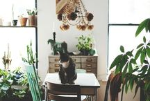 For the Home / neutral backdrops with pops of color / by Sara Bartle